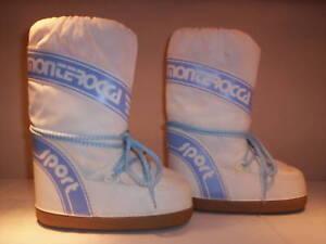 Stivali-boots-doposci-Monterocca-bambino-bambina-neve-bianchi-nuovi-26-27-28-29