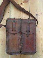 Vintage WW2 Leather Bag Military