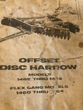 Krause Disk Harrow Owners Manual