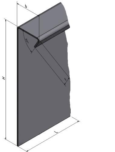 5er économies stable-bordures kiesleiste pour vos parterres en acier inoxydable