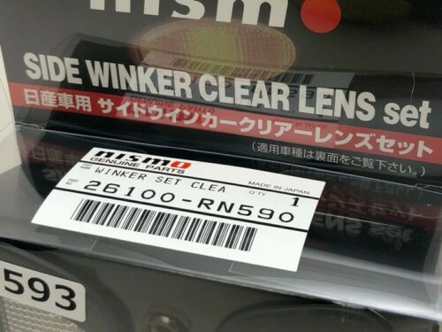 NISSAN NISMO Side Turn Signals Clear Lens For SKYLINE R33 26100-RN590 NEW