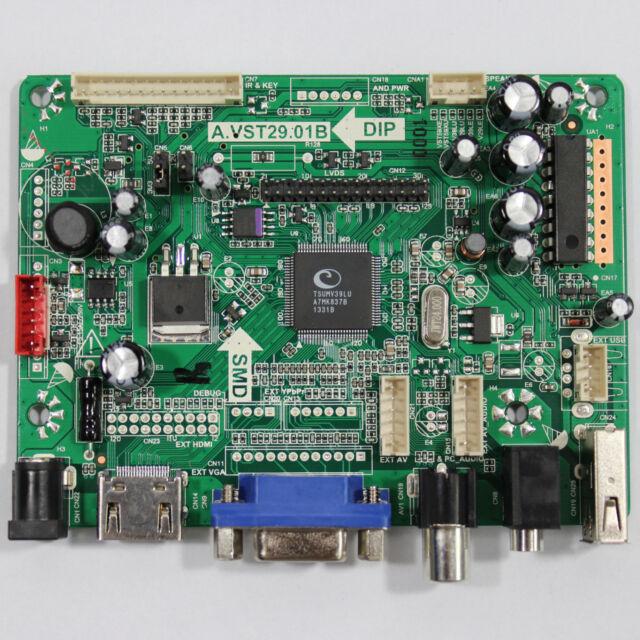HDMI+VGA+AV+Audio+USB Control board VST29.01B for lcd panels-Only driver board