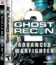 Sony PS3 Tom Clancy's Ghost Recon: Advanced Warfighter 2 Video Game DISC ONLY