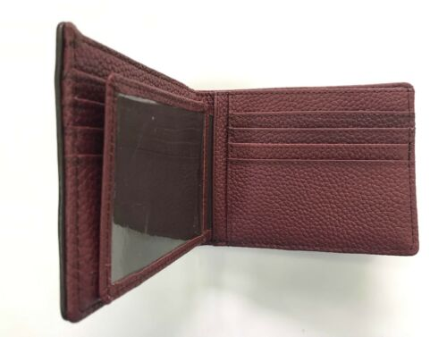 Black Red Brown Genuine Ostrich Leg Skin Leather Men/'s Bifold Wallet Brown