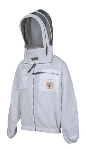 Beekeeper Ultra Ventilated 3 layer mesh Beekeeping Jacket Bee Hat Veil X-Large