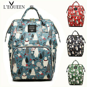 47a220a5daec Details about Diaper Bag Backpack Multi-Function Large Capacity Travel  Backpack Nappy Bags