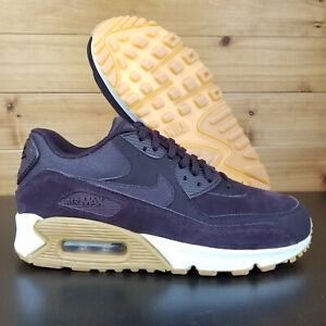 Details about Nike Air Max 90 SE Women's Shoes Suede Purple White Port Wine 881105 603