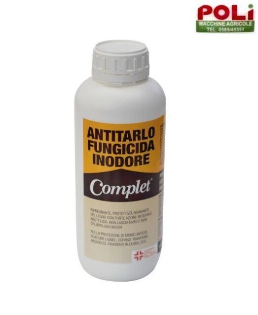 ANTITARLO FUNGICIDA INODORE INCOLORE PROTETTIVO LEGNO COMPLET 1 LT