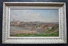 """Eugène MINAULT (1880-1952):huile,""""La Charité-sur-Loire Le Faubourg"""",signée,cadre"""