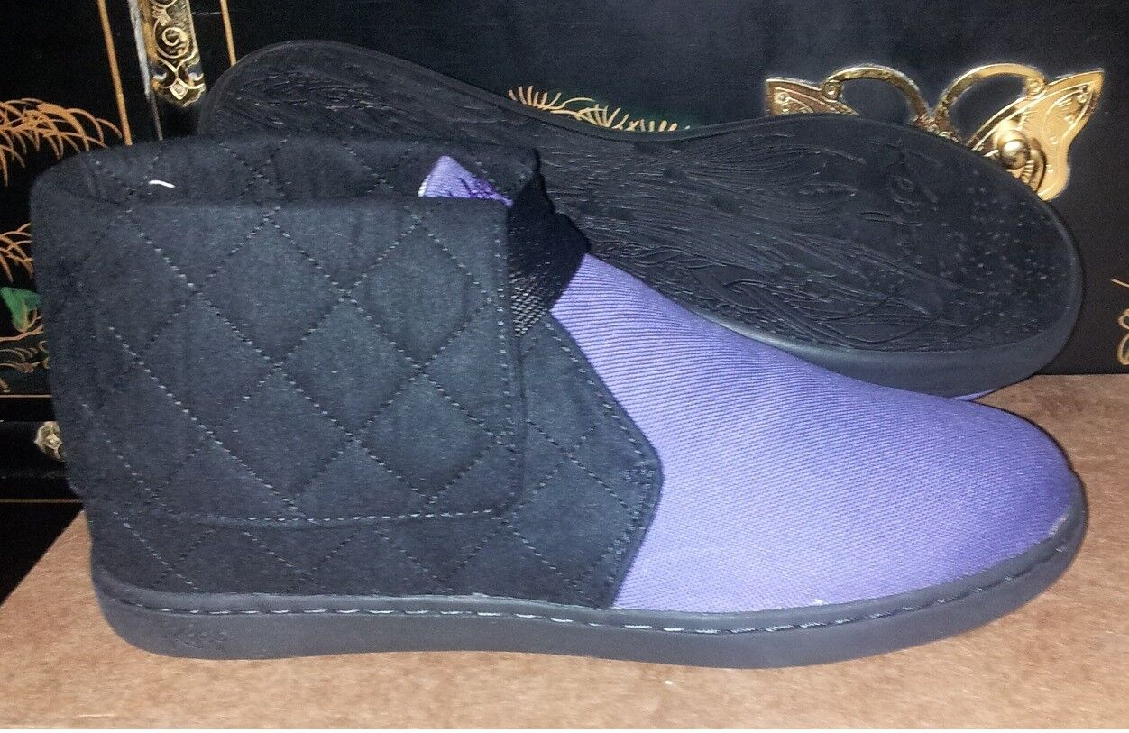 NEW KEEP Colonway Quilted Black and Purple Shoes High Top Shoes Purple Sz. 7 cb4da8