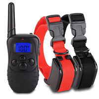 Training Collar Remote Rechargeable Waterproof Lcd Screen 8 Style Dogs