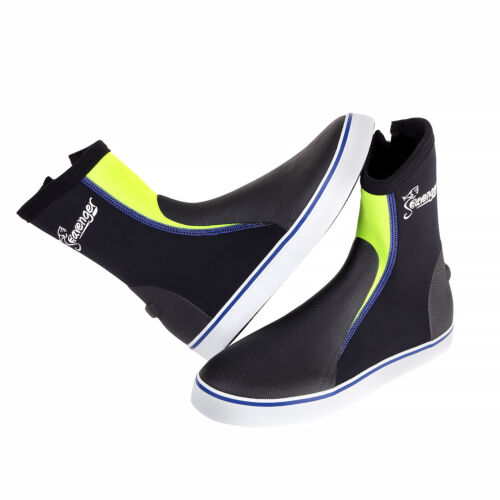 Seavenger Sneaker Style Aqua Shoes 3mm Neoprene High Top Dive Green Snorkel