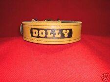 11/2 leather collar dog training police k9 schutzhund CUSTOM MADE !!!!!!!!