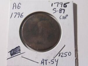 1796-S-87-Large-Cent-Liberty-Cap-type-Almost-Good-Cond-Lot-AT-54