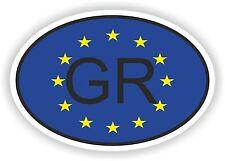 BANDIERA dell'Unione Europea ovale con codice paese Grecia GR STICKER MOTO AUTO