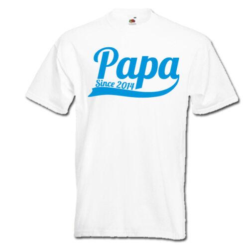 Papa depuis une année papa nouveau papa père papa t-shirt homme fête des pères idée cadeau