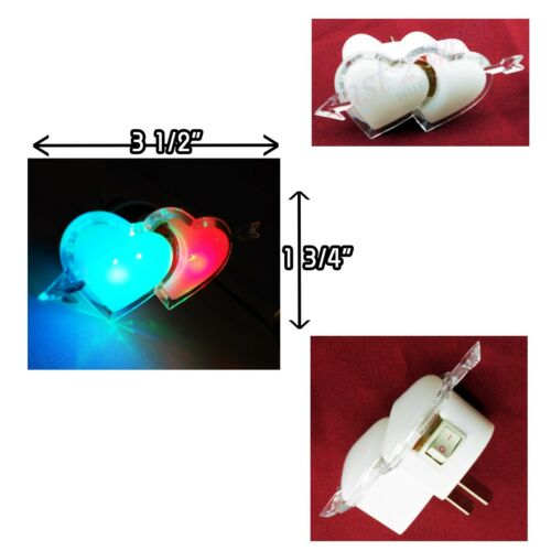 LED Cupid Arrow Heart  Night Colorful Light Lamp with on//off switch Brand New