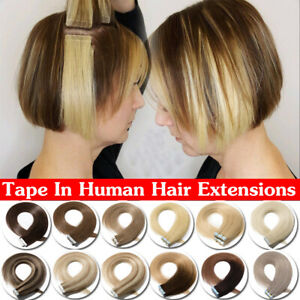 8A-Real-Remy-Russian-Tape-In-Human-Hair-Extensions-Full-Head-Short-Long-Thick-W2