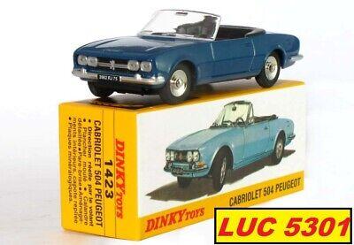 PROMO panneau ref 1423 au 1//43 de dinky toys atlas Peugeot 504 cabriolet