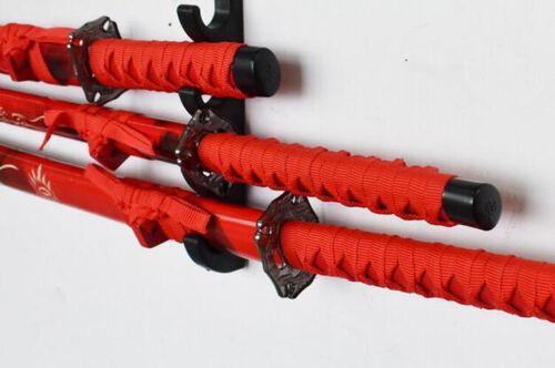 5 niveles de montaje en pared Samurai Espada Katana Espada Soporte Soporte Soporte Estante de exhibición