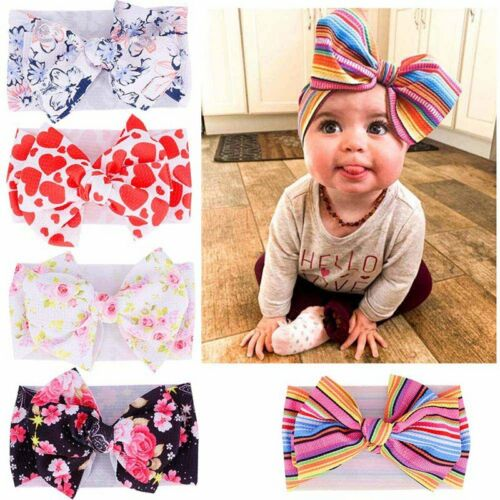 Baby Girl Hair Band Big Bow Headband Turban Knot Hair Accessory Head Wrap SStvo