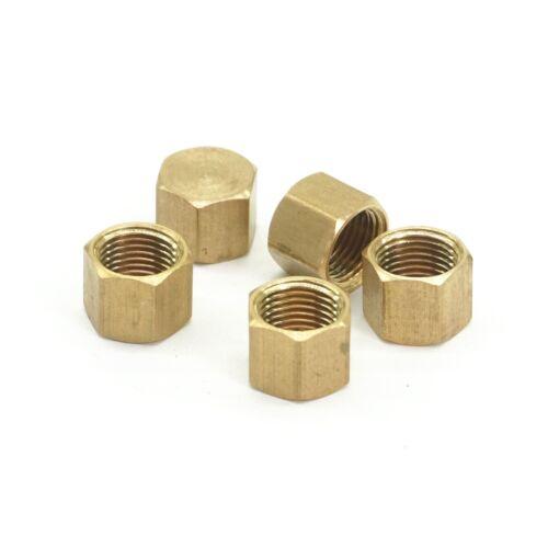 "1//8/"" BSPP female Brass Countersunk Plug hex head socket Pipe fittings End Cap"