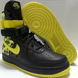 Nike Air Force 1 High Top SF AF1 Special Field Black Yellow AR1955 ... 4d0cf3438