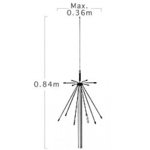 Antenna Diamond D-190 Discono a Banda Larga : 100-1.500MHZ