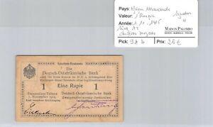 Deutsch-Ostafrikanische África Alemán 1 rupia 1.11.1915 Nº 2455 Pick 9Ab