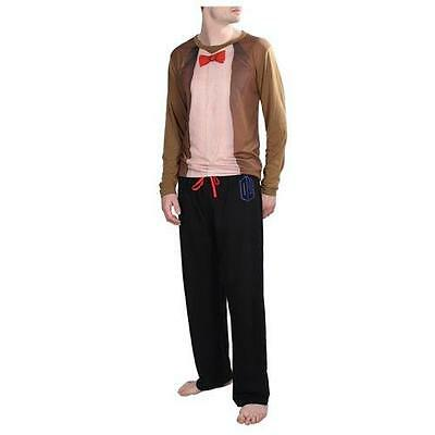 DOCTOR WHO BBC Licensed Sizes S/M L/XL 11th Doctor Pajamas SET Unisex LoungeWear