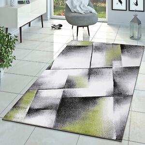 Das Bild Wird Geladen Designer Teppich Wohnzimmer Modern Kurzflor Teppich  Meliert Gruen