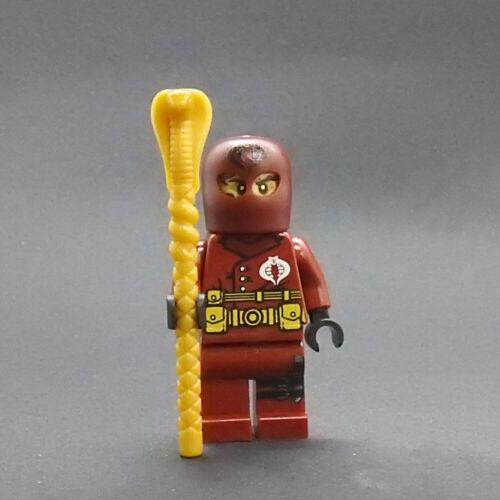 Custom Cobra Commander hood red Gi Joe minifigures lego bricks gijoe g i joe