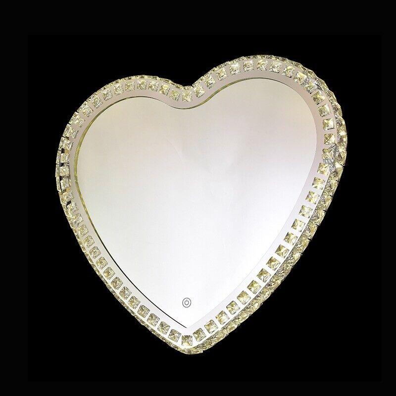Cristales impresionante Luz Led iluminado Espejo montado en la parojo forma de amor