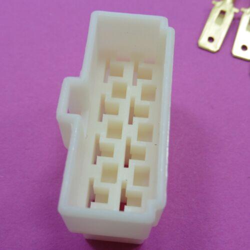 Conector De 8 vías enchufe 6.3mm Pin eléctrico kits de coche terminales de vivienda Macho//Hembra