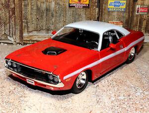 1970-DODGE-Challenger-R-T-COUPE-1-24-SCALA-DIECAST-MODELLO-AUTO-Giocattolo-in-Metallo-Maisto-3