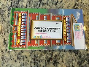 COWBOY-COUNTRY-THE-GOLD-RUSH-OOP-VHS-HISTORY-EDUCATIONAL-LEARNING-WEST-MIGRATION