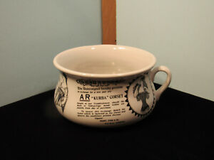 Vintage-Chamber-Pot-Portmeirion-Pottery-034-Corsets-034-Stoke-On-Trent-Made-in-England