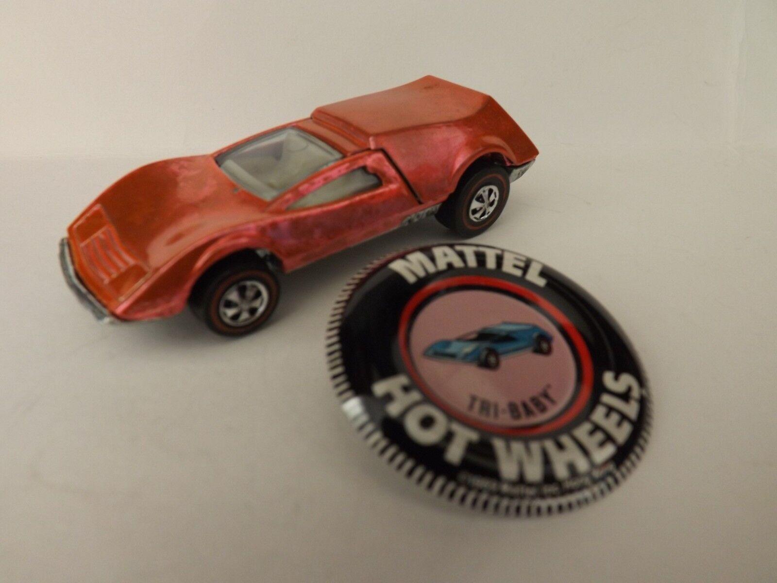 Hot wheels rote linie tri - baby in seltenen lachs farb - besitzer nicht spielen