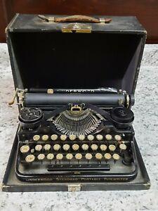 CIRCA:1915 ORIGINAL ANTIQUE UNDERWOOD STANDARD PORTABLE TYPEWRITER W/CASE, WORKS