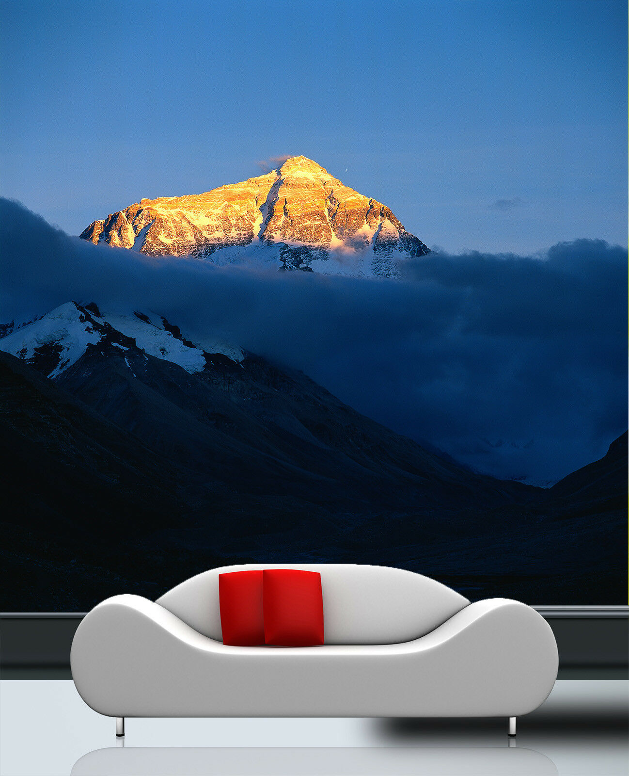 3D Mountain Peaks  555 Wall Paper Wall Print Decal Wall Deco Indoor Mural Summer