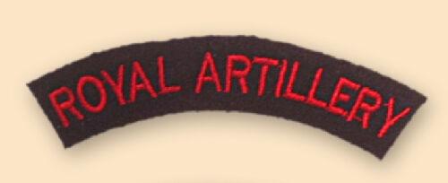 NEW OFFICIAL Royal Artillery titles.