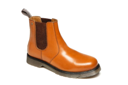 Mens Catesby CX01 Tan Leather Chelsea Dealer Boots Cushioned Airsole UK 6-12