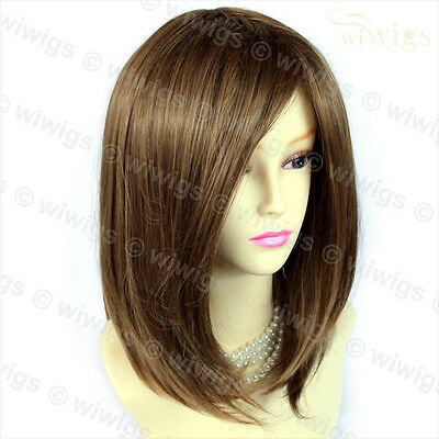 Medium Bob Faceframed Dark Brown & Blonde Mix Ladies Wig From WIWIGS UK