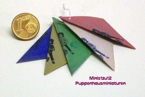 3301# Miniatures épicerie Sacs-obsttüten-Maison de Poupée-Poupée-M 1zu12