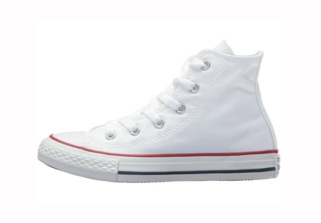 Converse Chuck Taylor All Star High Top Canvas Girls Shoes 3J253 Optical White