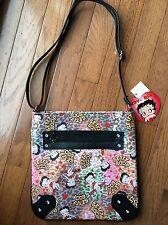 Betty Boop Body Leopard Print Body bag Purse By Sasha Bags