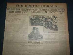 1907 MARCH 19 THE BOSTON HERALD - EVACUATION DAY SHOW GREATEST IN HISTORY- BH 13