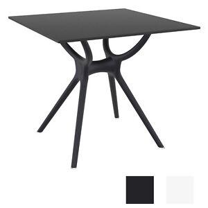 Détails sur Table Air 80 x 80cm Table en Plastique pour Jardin Terrasse ou  Véranda Solide