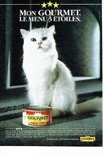 Publicité Advertising 037  1985  Gourmet   patée pouc chat rognons-volaille