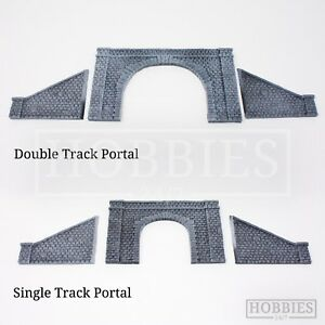Javis Tunnel Portal Double Single Track Side Walls Resin Model Kit OO HO Gauge